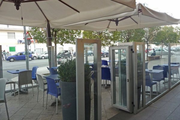 Double Offset Patio Umbrella with Enclosures