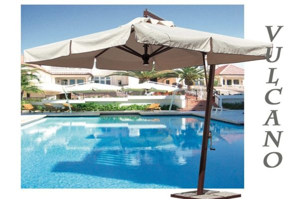 Vulcano offset Umbrella for pool area